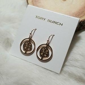 Tory Burch rose gold deco drop earrings